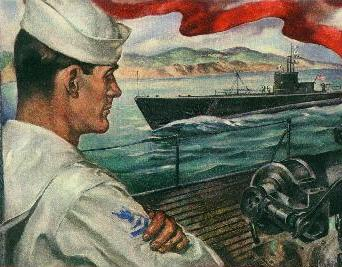 WWII Submarine Poster
